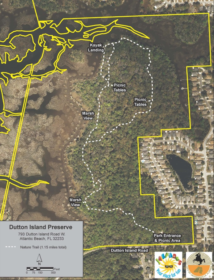 Dutton Island Preserve II Hiking Trail Map